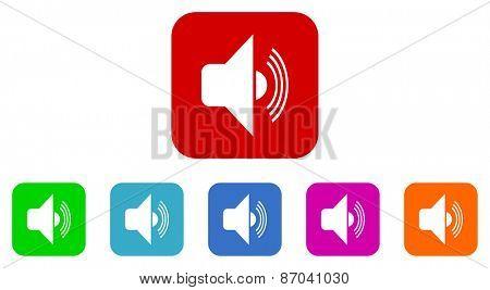 audio vector icons set