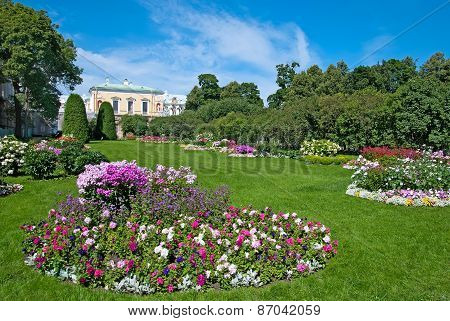 Tsarskoye Selo (Pushkin), Saint-Petersburg, Russia. The Maids of Honour Garden