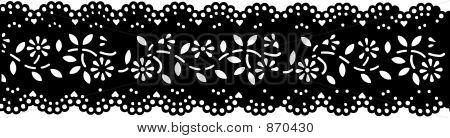 Antique Black lace