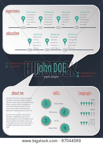 Speech Bubble Resume Cv Curriculum Vitae Template