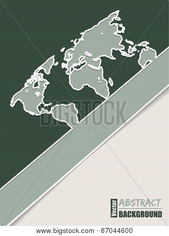 Corporate Brochure Design In Green With World Map