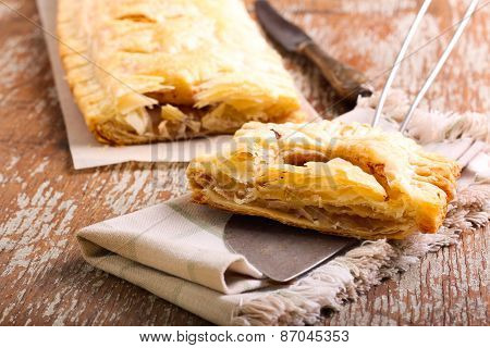 Puff Pastry Rectangle Cake