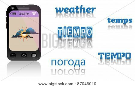 Smartphone weather application