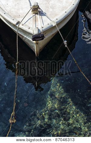 Prow Of A Traditional Mediterranean Fishing Boat