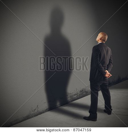 Shadow businessman
