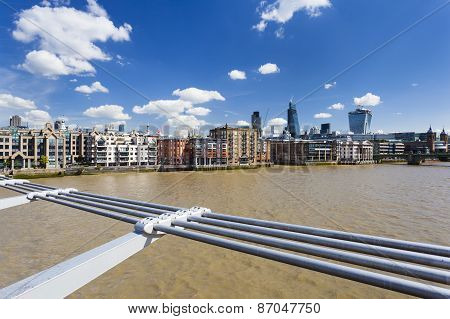 City Of London From Millennium Bridge