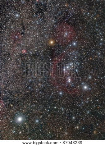 Stars And Nebulae In The Orion Constellation