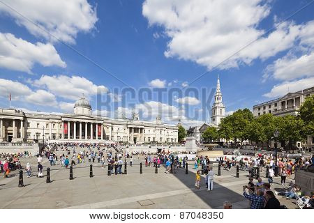 Trafalgar Square In London, Editorial
