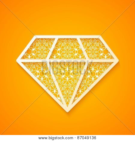 Abstract Diamond Silhouette