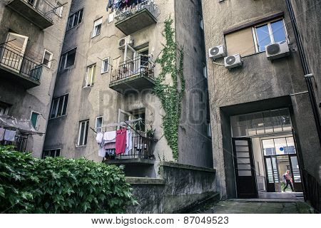 Typical Zagreb Building Backyard