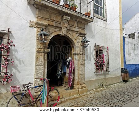 Building in Obidos Portugal