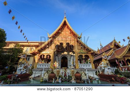 Wat Loi Kroh, Temple In Chiang Mai, Thailand
