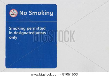 Old No Smoking Sign