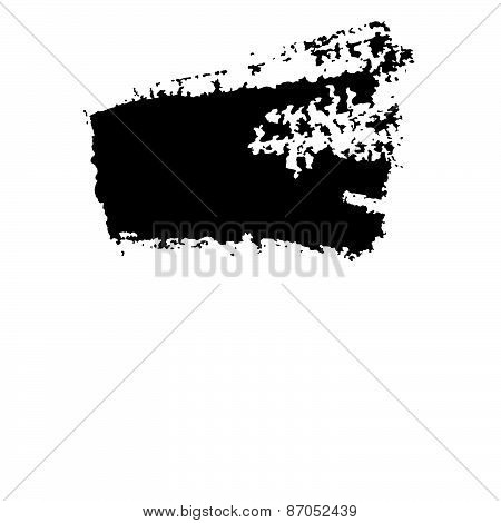 Black Grungy Abstract Hand-painted Brush Strokes
