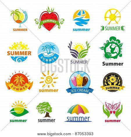 Biggest Collection Of Vector Icons Summer