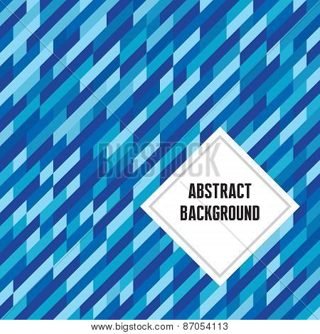Abstract geometric background in blue colors. Abstract vector pattern.