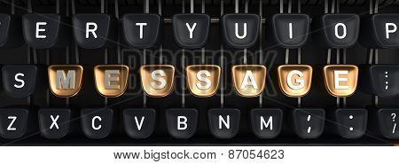 Typewriter with MESSAGE buttons