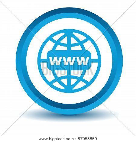 Blue Www icon
