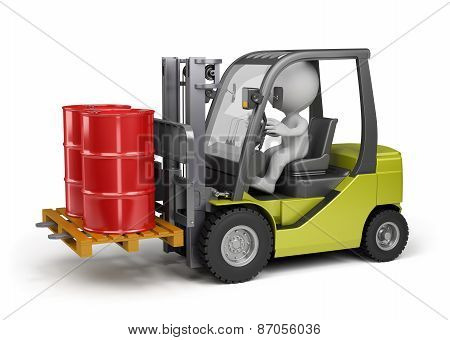 Forklift With A Load