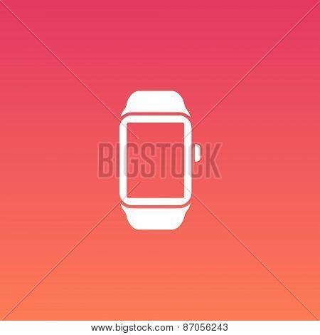 Smart Watch Vector Flat Design Icon