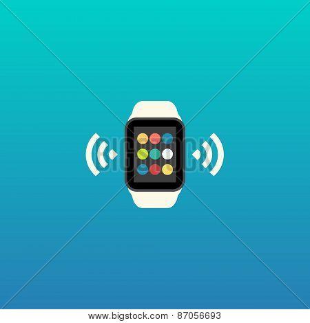 Smart Watch Vector Flat Design Illustration