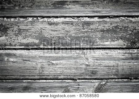 Painted Old Wooden Wall