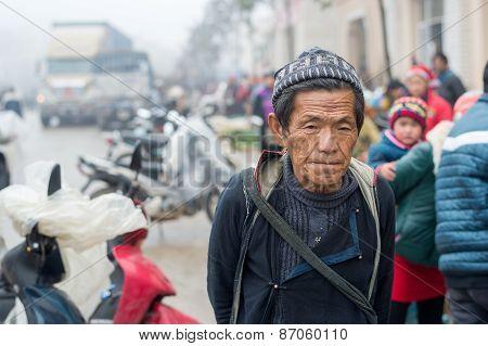 Hmong man in Sapa