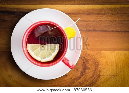 Cup Of Healthy Herbal Tea With Lemon