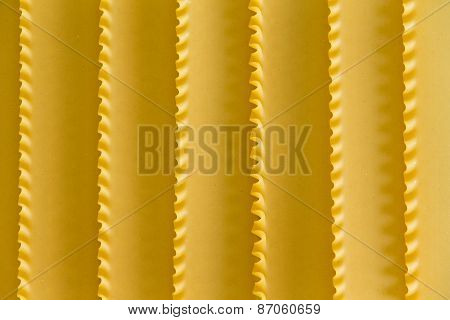 Organic Dried Lasagne Background Texture