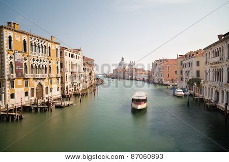 Venice Grand Canal And Buildings