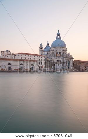 Basilica Di Santa Maria Della Salute At Sunset