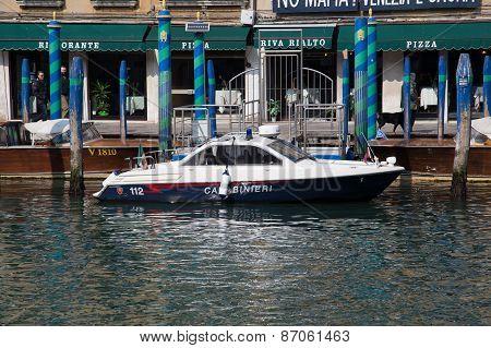 Carabinieri Police Boat In Venice