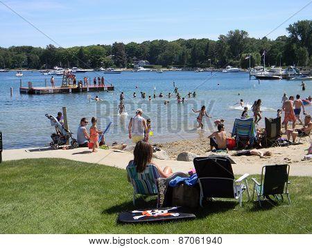 Zorn Park Beach,Harbor Springs, Michigan