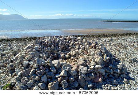 Llandudno West shore beach on the river Conwy estuary