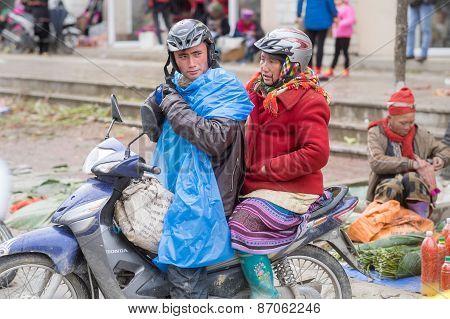 Rainy day in Sapa, Vietnam