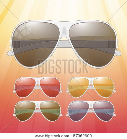 Sunglasses. Vector Icons