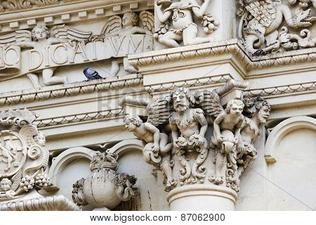 Santa Croce Baroque Church In Lecce