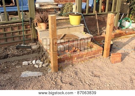 Building a patio