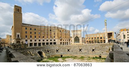 Roman Amphiteatre (2Nd Century) In Lecce, Apulia, Italy