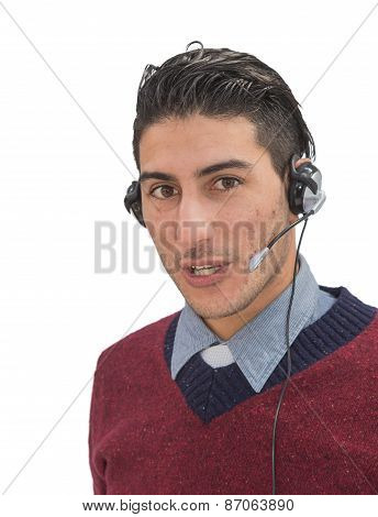 Friendly help desk employee