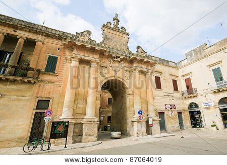 Porta San Biagio In Lecce, Apulia, Italy
