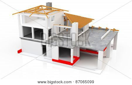 3D Modern House, Building Stage