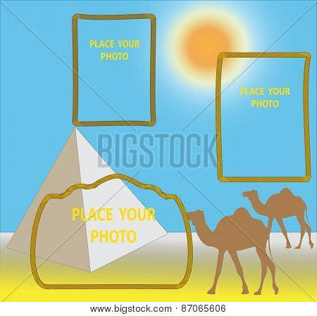 color card with a framework for photos