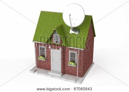 Satellite Dish On Home
