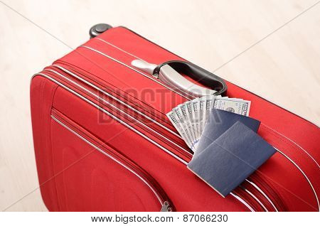 Suitcase, Passports And Money