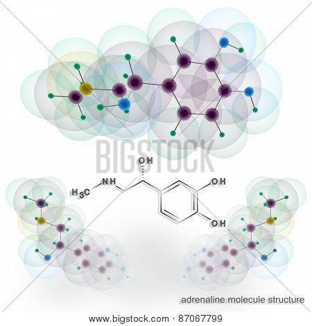 Adrenalin Molecule Structure