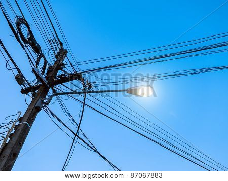 Confused Of Electricity Pole