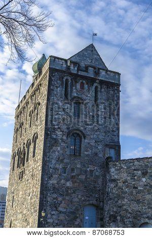 Rosenkrantz Tower In Bergen, Norway