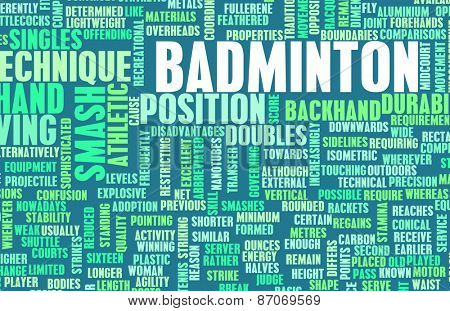 Badminton Concept as a Sport Game for Recreation background