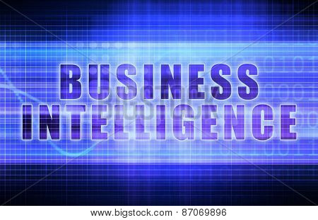 Business Intelligence on a Tech Business Chart Art background